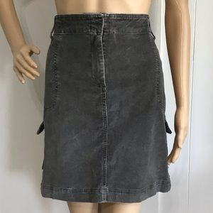 J Jill Gray Corduroy Stretch Skirt